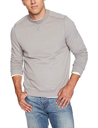 G.H. Bass & Co. Men's Mountain Wash Fleece Crew Long Sleeve Sweatshirt, Cloudburst, Medium ()