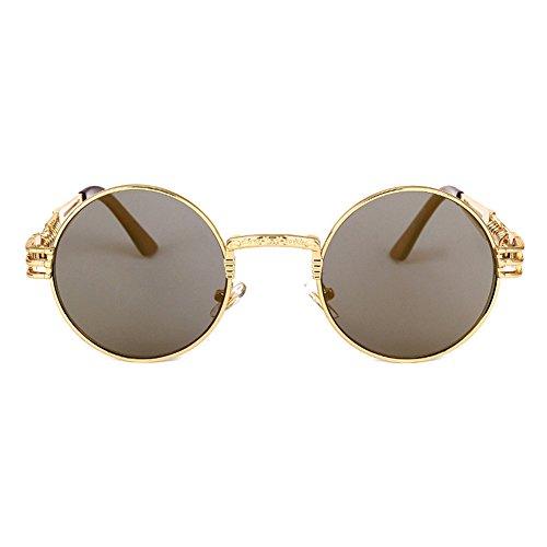 Steampunk Sunglasses Vintage juqilu HipHop de Mujeres C12 Hombres Gafas Metal Classic Punk sol FqIwRAPw
