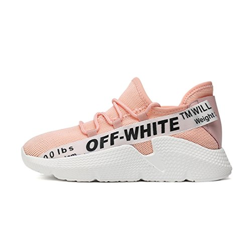 Antidérapantes Femme Athlétique Confortable Respirant 40 Marche 35 Sneakers Rose Baskets Filets Chaussures de Running wzqnHx