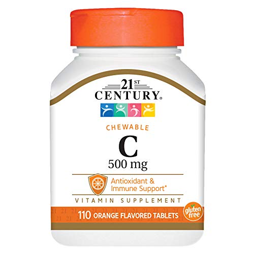 (21st Century C 500 mg Orange Chewable Tablets, 110 Count)