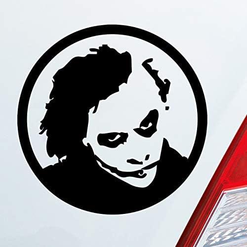 Auto Aufkleber In Deiner Wunschfarbe Joker Für Batman Fans Begins Dark Knight 10x10cm Autoaufkleber Sticker Folie Auto