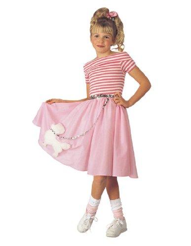 Poodle Skirt Kids Costume (Girl In Poodle Skirt)