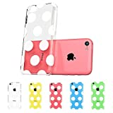 TOPPEST iPhone 5c Case, ESR the Beat Series Hard Clear Back Cover Snap on Case for iPhone 5C (Polka Dots)