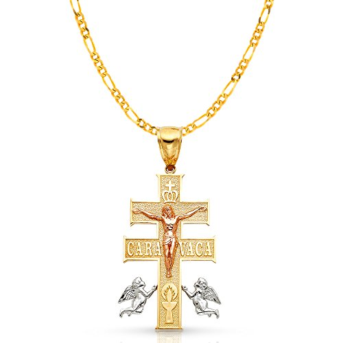 14K Tri Color Gold Cross of Ca