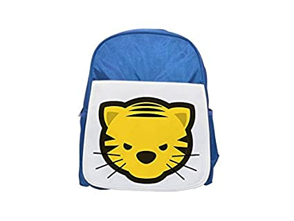 Fotomax Dou Shou Qi Tiger Mochila estampada azul para niños, mochilas lindas, mochilas pequeñas