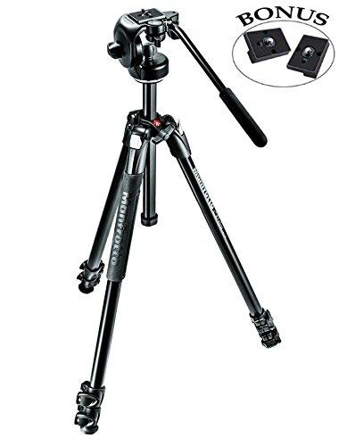 Manfrotto MK290XTA3-2WUS 290 Xtra Fluid Video Head Kit (Black)