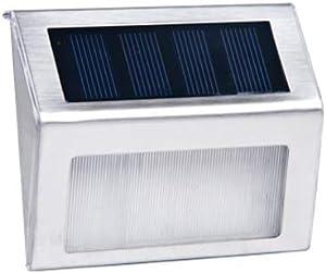KMYX Small LED Corner Light Terrace Exterior Aisle Light Outdoor Garden Light Step Light Mini Wall Light Home Solar Wall Lamp