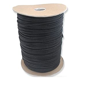 1000 Foot Black Parachute Cord Paracord Type III Military Specification 550