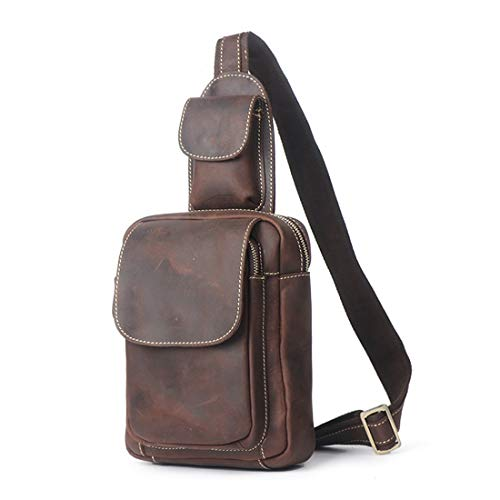 Magai A Brown Uomo Pelle In Portatile Borse Tracolla Casual Dark Brown Impermeabile color Da ZrS7nZW