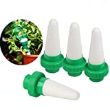 Kyerivs Ceramic Self Plant Watering Spike Outdoor Indoor Automatic Plant Drip Irrigation Device Vocation Plant Waterer 4 packs