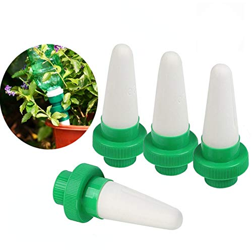 Kyerivs Ceramic Self Plant Watering Spike Outdoor Indoor Automatic Plant Drip Irrigation Device Vocation Plant Waterer 4 packs by Kyerivs