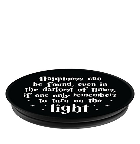 Brave New Look Happiness In Dark Times Pop Sockets Stand for Smartphones and Tablets by Brave New Look (Image #3)