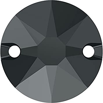 Cristales de Swarovski 5100407 Piedras para Coser 3288 MM 8,0 Jet HEMAT, 144 Piezas