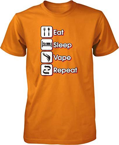 Hoodteez Eat, Sleep, Vape, Repeat Men's T-Shirt, M - Sub Vape Ohm Coils