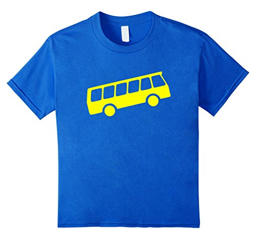 unisex-child School Bus Icon Emoji t-shirt  6 Royal Blue