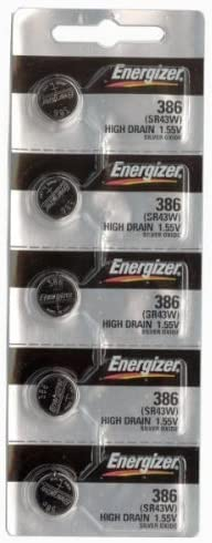 100 386 / 301 Energizer Watch Batteries SR43SW SR43W 41NJ2BoNd9UL