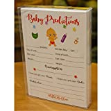 Baby Shower Predictions and Advice Cards - Fun Guessing Game for Girls Boys Gender Neutral, Ideas for Activities Prizes Favors for Guests, Best Wishes for Baby, New Mom Dad Parents to Be Advice Card