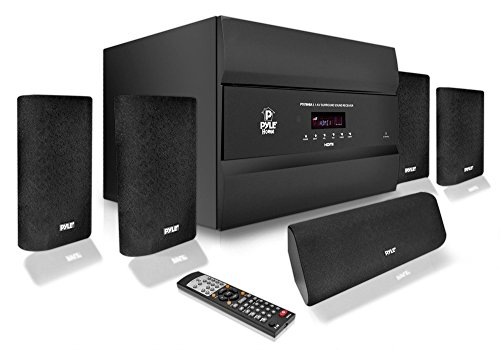 Lg Theater A Box In Home (Pyle PT678HBA Bluetooth 5.1 Channel HDMI Home Theater System, 400 Watt, AM/FM Tuner, Subwoofer & Speakers (Certified Refurbished))