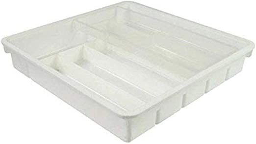Bakaji Organizador Porta Cubiertos 9 compartimentos para cajón Cocina Caja de plástico blanco bandeja cubiertos: Amazon.es: Hogar