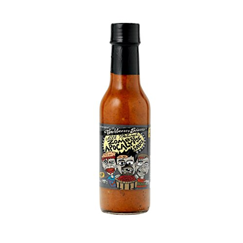 Zombie Apocalypse Ghost Chili Hot Sauce and X-Large