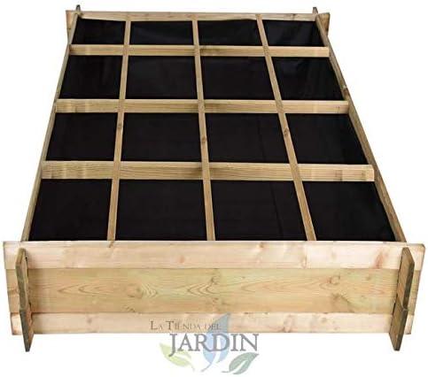 HUERTO URBANO de madera 134 x 134 x 24 cm, 16 departamentos ...