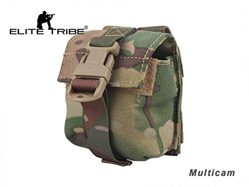 (Tactical LBT Style Molle Single Frag Grenade Pouch Multicam)