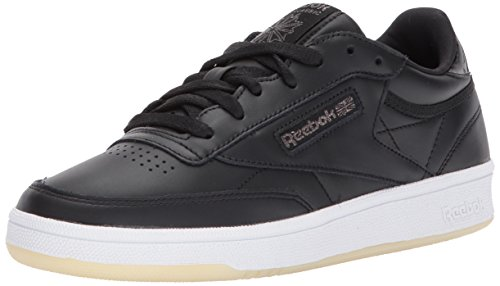 Reebok Womens Club C 85 Lthr Sneaker Pearl- Nero / Bianco / Ghiaccio
