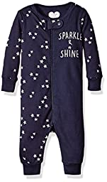 The Children\'s Place Girls\' Printed Pajama Stretchies, Star/Tidal, 3-6 Months