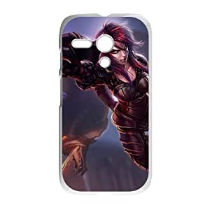 Motorola G Cell Phone Case White League of Legends Ironscale Shyvana LM5661561