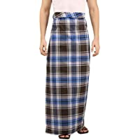 FABS Jp Lungies Lungi for men from pure premium quality Cotton,lungi dance(Checkered, 1 piece)