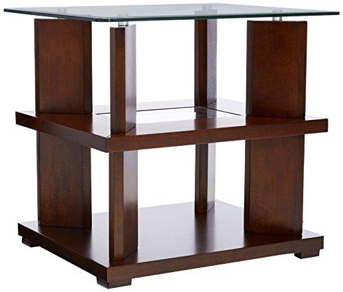 Progressive Furniture Delfino End Table, Burnished Cherry -  P404-04