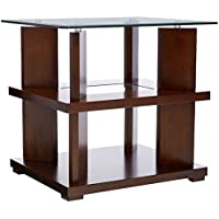 Progressive Furniture Delfino End Table, Burnished Cherry