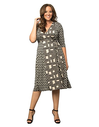 Kiyonna-Womens-Plus-Size-In-the-Mix-Wrap-Dress