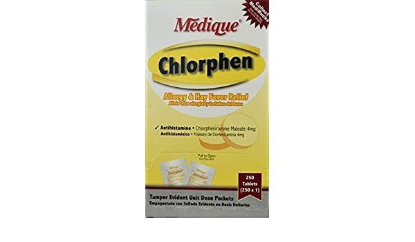 Amazon.com: 241-48 Chlorphen Allergy Tablets Industrial Pack 250x1 Per Box by Medique Pharmaceuticals -Part no. 241-48: Industrial & Scientific