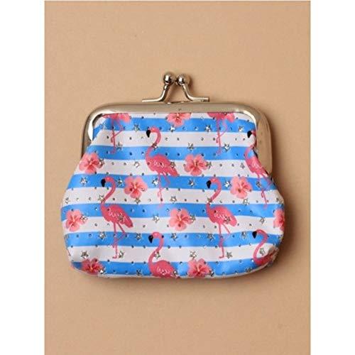 Inca 7404 Flamingo Print Fabric Coin Purse