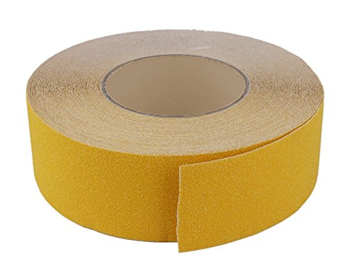 MASTER STOP 88208 2x60 Anti-slip abrasive safety tape YELLOW Color-60 Foot Length Rolls Sure-Foot