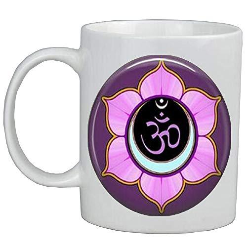 Om Coffee Mug,Yoga Coffee Mug,Purple Lotus Flower Blossom,Om Symbol,Zen,Buddhism,Yoga Key Fob,Om Coffee Mug,ot316 - Lotus Blossom Symbol