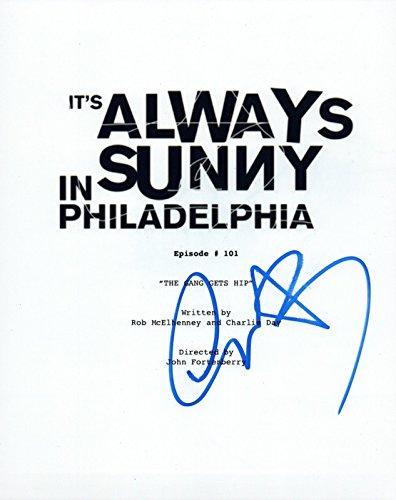 Charlie Day Signed It's Always Sunny in Philadelphia Pilot Episode Script COA VD