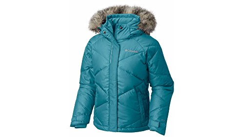 Columbia Big Girl's Mini Lay D Down Jacket, Pacific Rim Dotty Emboss (L 14/16) by Columbia
