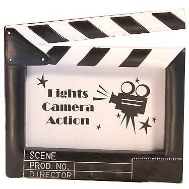 LIGHTS-CAMERA-ACTION placecard frames