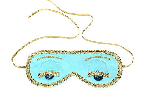 [Audrey Hepburn Breakfast at Tiffany's, Sleep Mask, Handmade, Silk, Blue w/o gift box] (Man Construction Worker Costume)