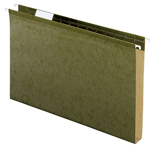 Pendaflex 04153X1 Reinforced 1 Extra Capacity Hanging Folders, Legal, Standard Green, Box of 25 (4153X1)