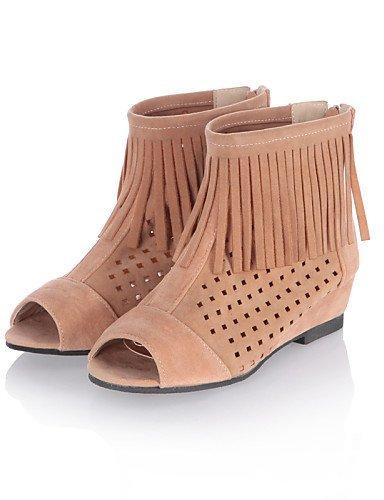 ShangYi Womens Shoes Wedge Heel Peep Toe Sandals More Colors available Orange