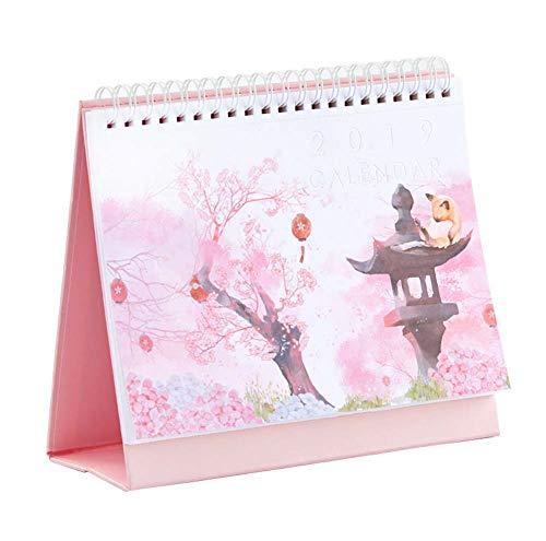2019 Desk Calendar Chinese Holiday Monthly Desk Calendar Daily Planner, 1 Piece (G)