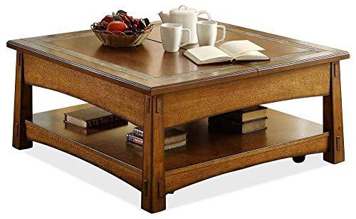 Riverside Furniture 597475 Square Cocktail Table, Oak Finish
