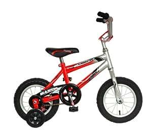 Mantis Lil Burmeister Kid's Bike, 12 inch Wheels, 8 inch Frame, Boy's Bike, Red/Silver