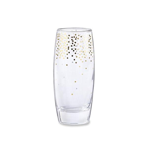 Confetti Stemless Champagne Glass