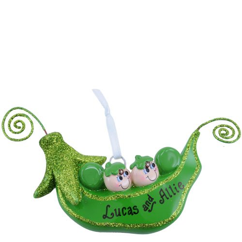 Two Peas in a Pod Ornament