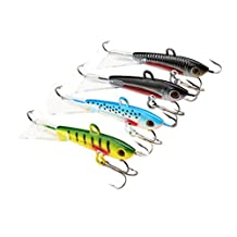 A-SZCXTOP 4pcs Ice Jig Metal Fishing Lures Artificial Baits Fishing Hooks Tackle for Winter Fishing