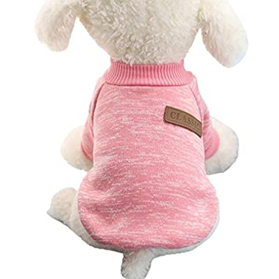 WensLTD Clearance Pet Dog Puppy Classic Sweater Fleece Sweater Clothes Warm Sweater Winter from WensLTD